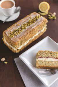 ARYZTA's New Lemon, Chia Seed & Pistachio Loaf Cake for vegans