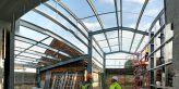 New building in progress at Hogs Back Brewery