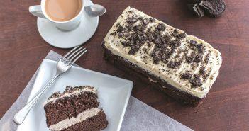 Chocolate cookie vegan loaf cake