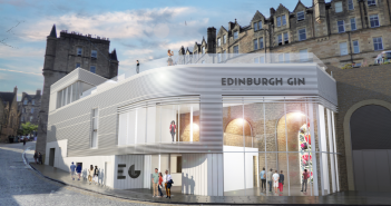 Artists' impression of the proposed Edinburgh Gin Distillery at East Market Street, New Waverley