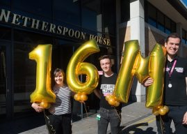 Wetherspoon and CLIC Sargent celebrate their £16 million milestone