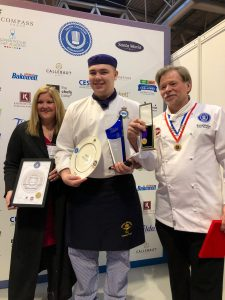 It was gold for chef Dylan Hodgson from RAF Marham, who was crowned Tilda Young Chef of Year