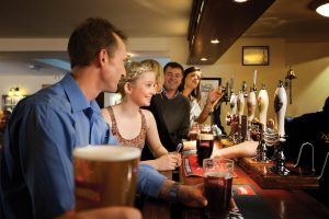 Cask drinkers are more likely to visit the pub