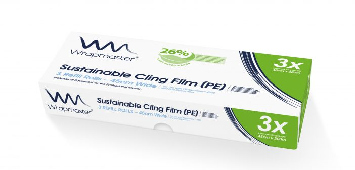 Wrapmaster go greener with 26% plant-based sustainable cling film (PE)