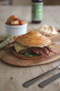 ARYZTA puff pastry burger